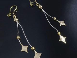 گوشواره آویز ایتالیایی طرح ستاره