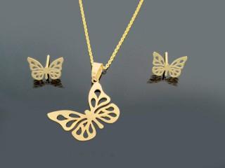 نیم ست طلای پروانه