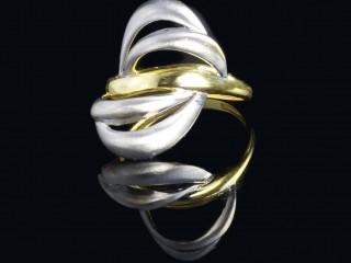انگشتر طلای دو رنگ