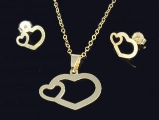 نیمست طلا طرح قلب