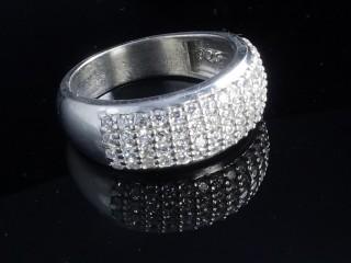 حلقه جواهری نقره زنانه