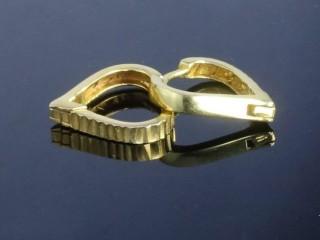 گوشواره حلقه ای طلا طرح قلبی