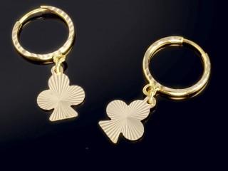 گوشواره حلقه ای  آویزدار طلا طرح گیشنیز