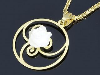 مدال طلا و گل صدف