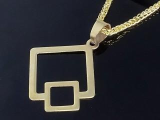 مدال طلا طرح مربعی