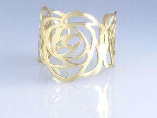 انگشتر اسپرت لیزری طلا طرح گل
