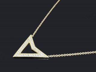 گردنبند طلا طرح مثلث