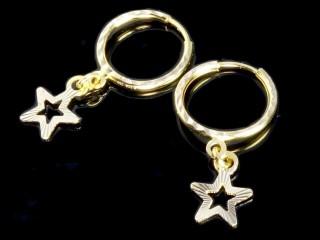 گوشواره حلقه ای طلا طرح ستاره