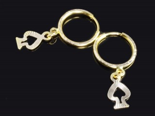 گوشواره حلقه ای طلا طرح پیک