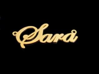 پلاک طلای اسم سارا
