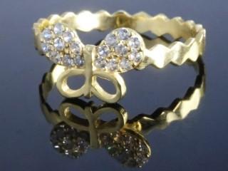 انگشتر طلا طرح پروانه