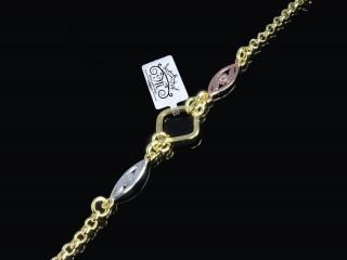 دستبند طلا طرح مربعی