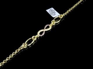 دستبند طلای بی نهایت سه رنگ