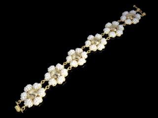 دستبند طلا مروارید خشخاشی