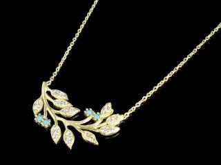 گردنبند طلا طرح شاخه