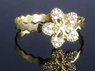 انگشتر فانتزی طلا طرح گل