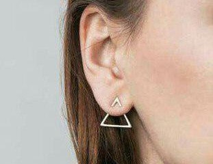 گوشواره طلای مثلثی