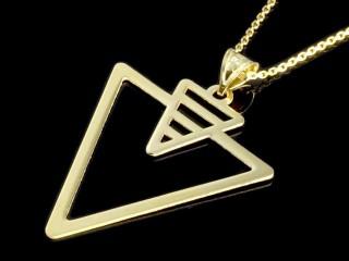 پلاک طلای مثلثی