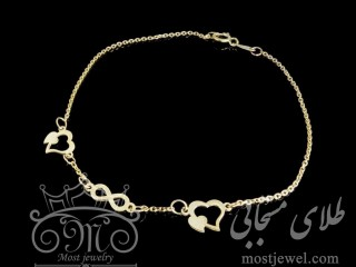 دستبند طلای قلب و بی نهایت