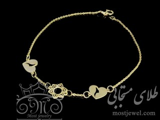 دستبند طلای قلب و چهره