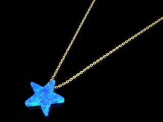 گردنبند سنگ اپال طرح ستاره