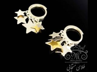 گوشواره طلای پولکی ستاره