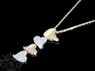 گردنبند 4 قلبی طلای تیفانی
