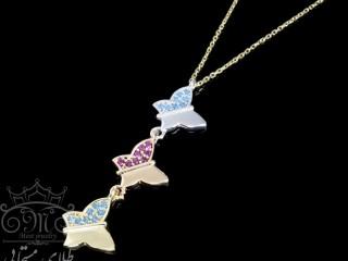گردنبند پروانه سه تایی طلا