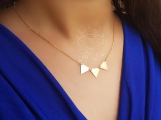 گردنبند طلای تنسی مثلث