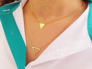 گردنبند مالتی لایر دو مثلث