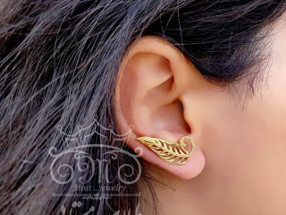 گوشواره لاله گوشی برگ