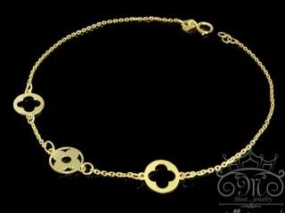 دستبند طلای ونکلیف