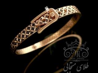 دستبند  طلای سیاه قلم کمربندی صدف