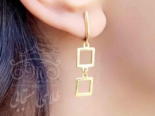 گوشواره هوکی طلا مربع