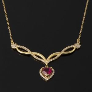 گردنبند طلای دلبری قلب
