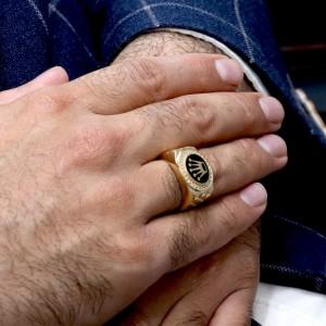 انگشتر طلای مردانه تاج