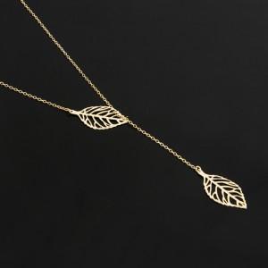 گردنبند طلای کرواتی برگ