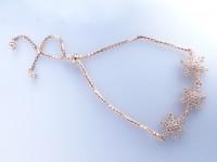 دستبند نقره رز گلد طرح ستاره