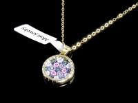 مدال آویز طلای فلورکس با سنگ موارنو