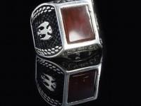 انگشتر نقره مردانه با نگین طرح عقیق