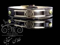 دستبند چرم و طلای تاج