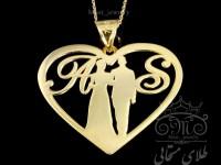 پلاک طلای عروس و داماد
