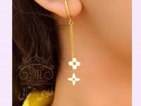 گوشواره طلا لویی ویتون