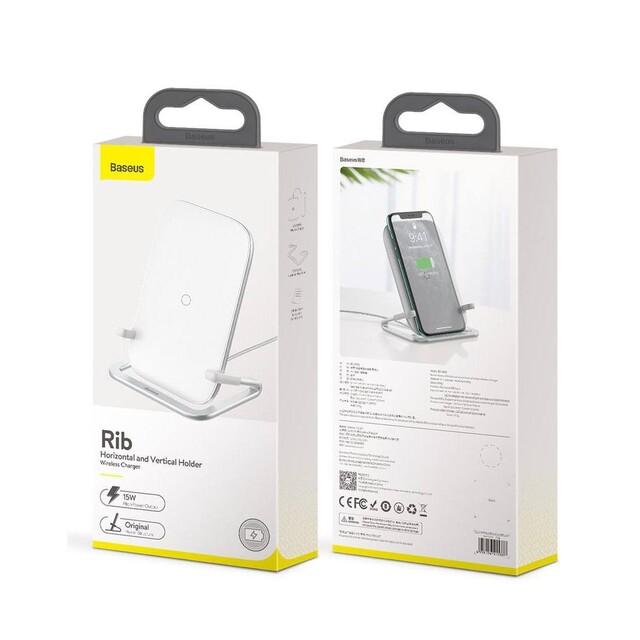 پایه نگهدارنده و شارژر بی سیم گوشی موبایل باسئوس مدل WXPG-01