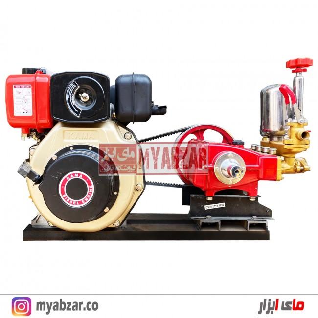 موتور پمپ و سمپاش زنبه ای کاما 7 اسب با پمپ 90 بار میتسوبیشی