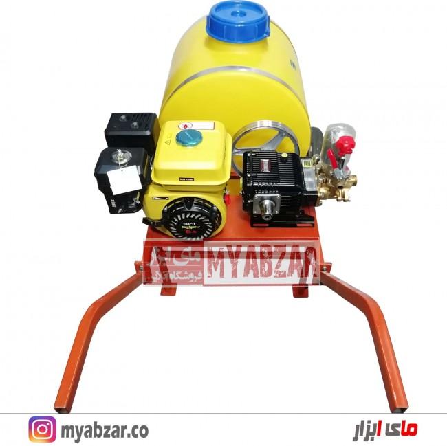سمپاش 100 لیتری موتور نویگیتور 168F-1 با پمپ 45 بار مشکی طرح رینو پاور
