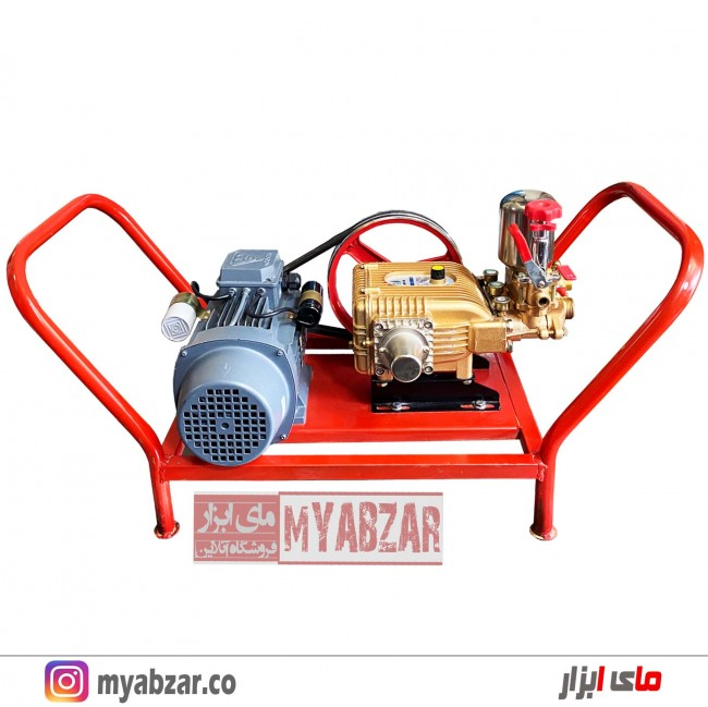 سمپاش زنبه ای برقی موتوژن تبریز و پمپ 45 بار