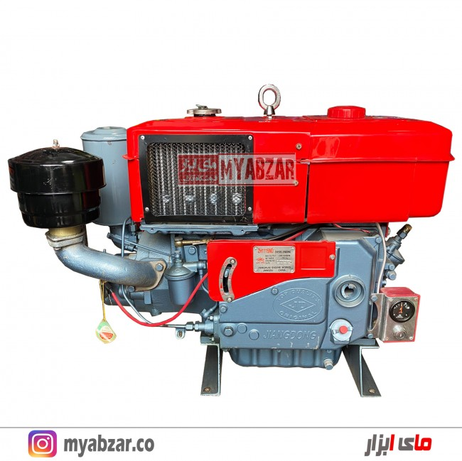 موتور تک سیلندر دیزلی 24 اسب جیانگ دونگ مدل JIANG DONG ZH1115ND