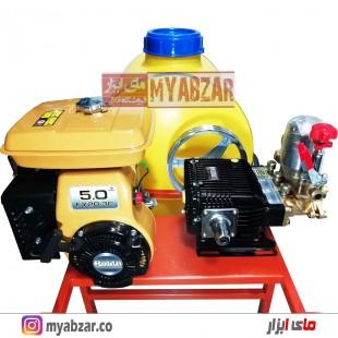 سمپاش 100 لیتری موتور روبین EY20 اصلی با پمپ 45 بار مشکی طرح رینو پاور