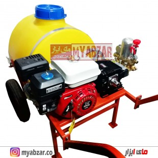 سمپاش 100 لیتری موتور طرح هوندا 6.5 اسب با پمپ 45 بار مشکی طرح رینو پاور
